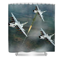 Welcome To North Vietnam Shower Curtain by Peter Chilelli