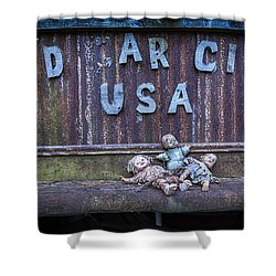 Shower Curtain featuring the photograph Welcome To Old Car City by Alan Raasch