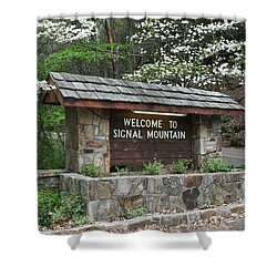 Welcome To Signal Mountain Spring Shower Curtain