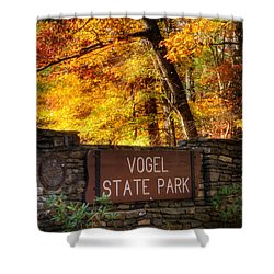 Welcome To Vogel State Park Shower Curtain