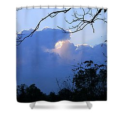 Shower Curtain featuring the photograph Welcoming Light by Hanne Lore Koehler