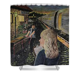 Welcoming The Guests Shower Curtain