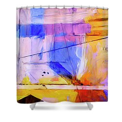 Shower Curtain featuring the painting Welder by Dominic Piperata