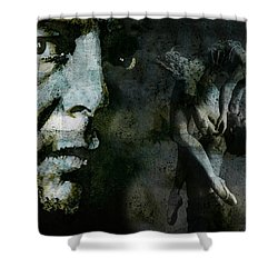 Shower Curtain featuring the painting Well , I've Heard There Is A Secret Chord by Paul Lovering