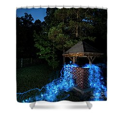 Well Color Shower Curtain