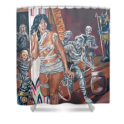 Shower Curtain featuring the painting Well Preserved by Bryan Bustard