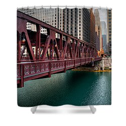 Well Street Bridge, Chicago Shower Curtain