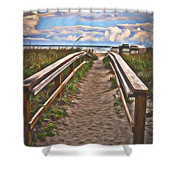 Shower Curtain featuring the photograph Well Trodden Path  ... by Chuck Caramella