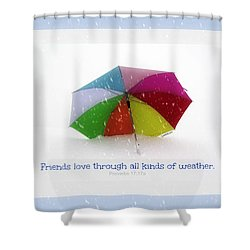 Well-weathered Friends Shower Curtain