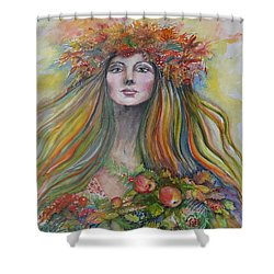 Welcome To Autumn Shower Curtain by Rita Fetisov