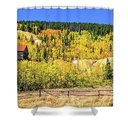 Wellington Ore Bin In The Aspen Shower Curtain