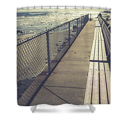 Shower Curtain featuring the photograph Wells Beach Maine by Edward Fielding