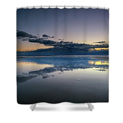 Shower Curtain featuring the photograph Wells Beach Reflections by Rick Berk