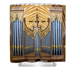 Wells Cathedral Organ Shower Curtain