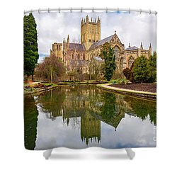 Shower Curtain featuring the photograph Wells Cathedral by Colin Rayner