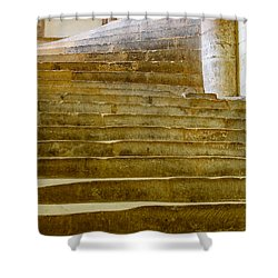 Wells Cathedral Steps Shower Curtain