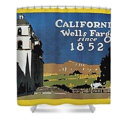 Wells Fargo Banner, 1917 Shower Curtain by Granger