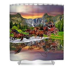 Wells Fargo Stagecoach Shower Curtain by Glenn Holbrook