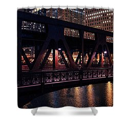 Wells Street Bridge II Shower Curtain
