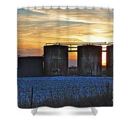 Wellsite Sunset Shower Curtain