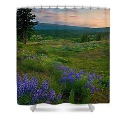 Wenas Valley Sunset Shower Curtain by Mike  Dawson