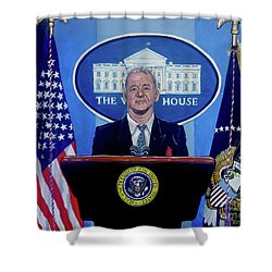 Were Saved Shower Curtain by Tom Carlton