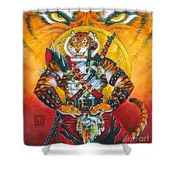 Werecat Warrior Shower Curtain by Melissa A Benson