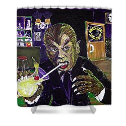 Werewolf Drinking A Pina Colada At Trader Vic's Shower Curtain