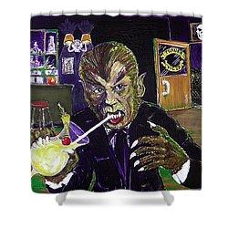 Werewolf Drinking A Pina Colada At Trader Vic's Shower Curtain