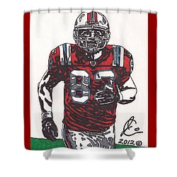Wes Welker Shower Curtain by Jeremiah Colley