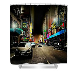 West 46th St. Shower Curtain by Diana Angstadt