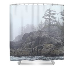 West Coast Landscape Ocean Fog I Shower Curtain