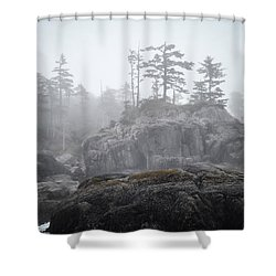 West Coast Landscape Ocean Fog IIi Shower Curtain