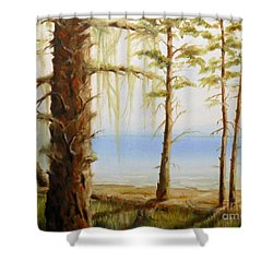 West Coast View Shower Curtain