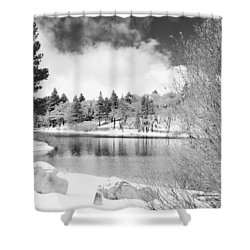 West Coast Winter Shower Curtain