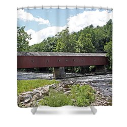 West Cornwall Covered Bridge July 2015 Shower Curtain