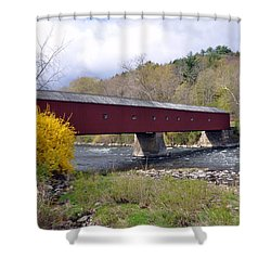 West Cornwall Ct Covered Bridge Shower Curtain
