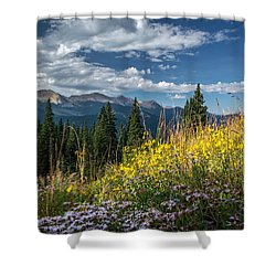 West Elk Mountain Range Shower Curtain