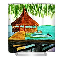 West End Roatan Shower Curtain by Donna Walsh