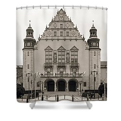 West Facade Of Adam Mickiewicz University Poznan Poland Shower Curtain