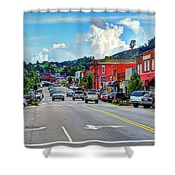 West Jefferson Streetscape Shower Curtain by Dale R Carlson