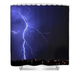 West Jordan Lightning 2 Shower Curtain