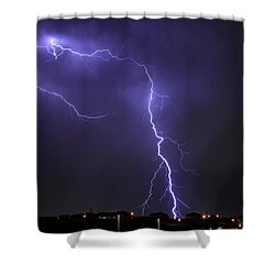 West Jordan Lightning 3 Shower Curtain