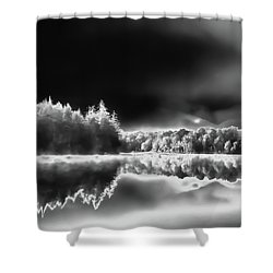 Shower Curtain featuring the photograph West Lake Backlit by David Patterson