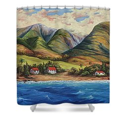 Shower Curtain featuring the painting West Maui Living by Darice Machel McGuire
