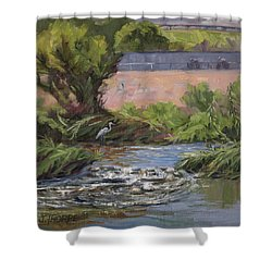 West Of Fletcher Bridge Shower Curtain