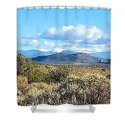 West Of Taos Shower Curtain