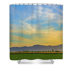 West Phoenix Sunset Digital Art Shower Curtain