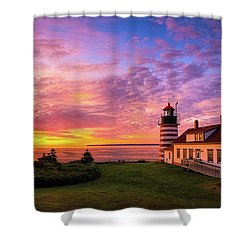 West Quoddy Head Light Shower Curtain