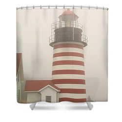 West Quody Head Lighthouse Shower Curtain